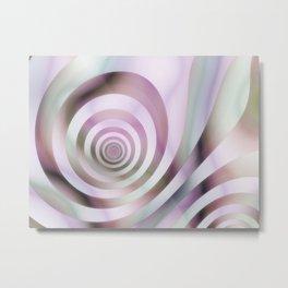 Pastel Colors Striped Pattern Metal Print