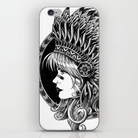 headdress iPhone & iPod Skins featuring Headdress by BIOWORKZ