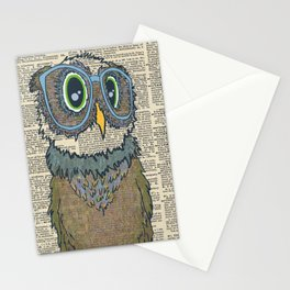 Owl wearing glasses Stationery Cards