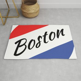 Boston Red White and Blue Rug