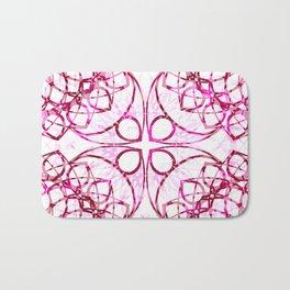 Pink Boho Chic Pattern Bath Mat