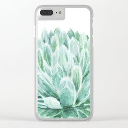 Watercolor cactus print Clear iPhone Case