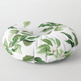 Green Tropical Pattern Floor Pillow