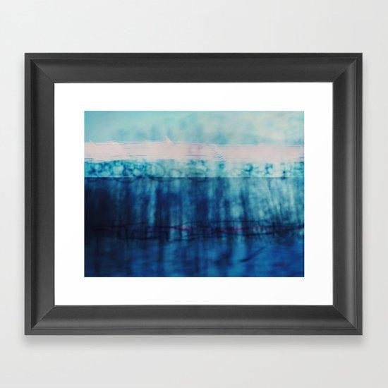 Abstract ~ Blue Landscape Framed Art Print
