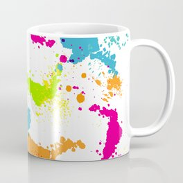 colorful paint blots Coffee Mug