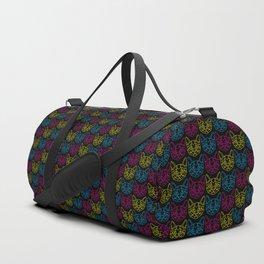 Neon Kitties Duffle Bag