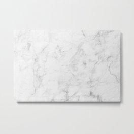 White Marble 007 Metal Print
