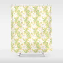 Japanese Floral Pattern 01 Shower Curtain