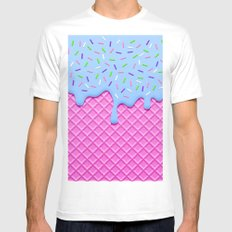 Psychedelic Ice Cream White MEDIUM Mens Fitted Tee