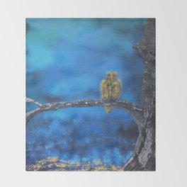 Owlie- The protector of the Forest Throw Blanket