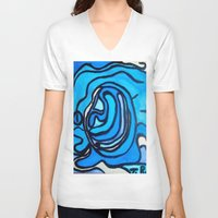 shell V-neck T-shirts featuring Shell by Abstract Jack95