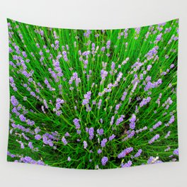 Lavender Close Up Wall Tapestry