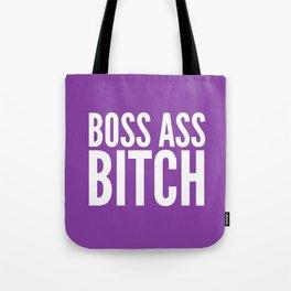 BOSS ASS BITCH (Purple) Tote Bag