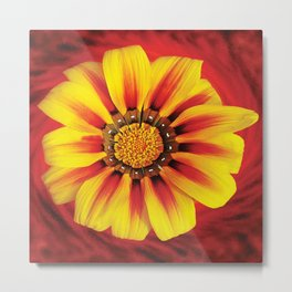 FLOWER Pop Art Metal Print