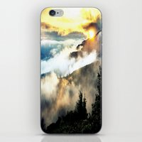 mountains iPhone & iPod Skins featuring Sunrise mountains by 2sweet4words Designs
