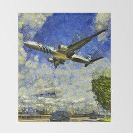 Airliner Van Gogh Throw Blanket