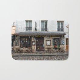 Cafe in Monmartre Paris Bath Mat
