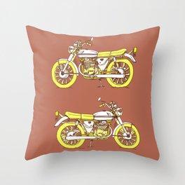 Vintage Motorcycle Gems III Throw Pillow