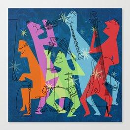 Mid-Century Modern Jazz Band Canvas Print