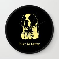 beer Wall Clocks featuring Beer by Andrea Bettin ART