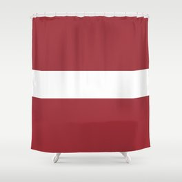 Flag Of Latvia Shower Curtain