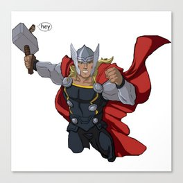 Thor and the Bird Canvas Print
