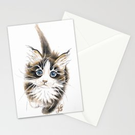 Cute Maine Coon Kitty Stationery Cards