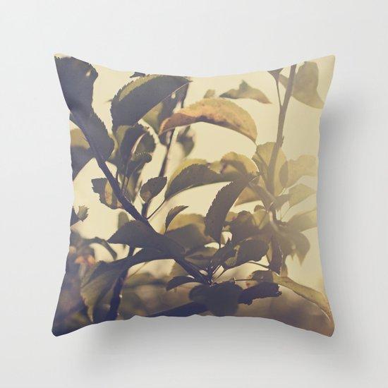 Fall Sun Throw Pillow