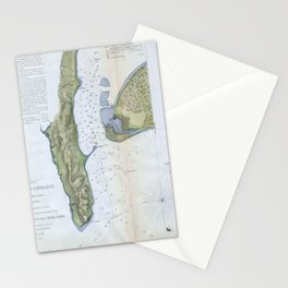 Vintage Map of San Diego & Coronado (1853) Stationery Cards