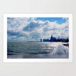When Sandy Made Waves in Chicago #4 (Chicago Waves Collection) Art Print
