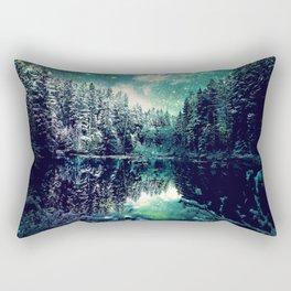 A Cold Winter's Night : Spearmint Teal Green Winter Wonderland Rectangular Pillow