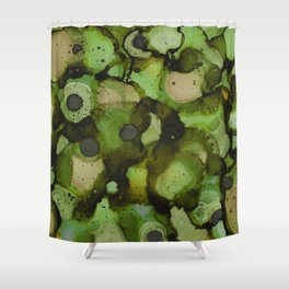 Overflow, Green Tea Shower Curtain