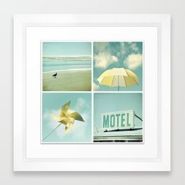 Coastal Collage Framed Art Print