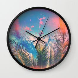 Silvery Skies Wall Clock