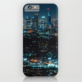 Los Angeles Skyline By Night United States Ultra HD iPhone Case