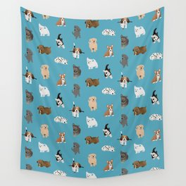 puppies pattern Wall Tapestry