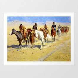 "Frederic Remington Art ""Pony Tracks In the Buffalo Trail"" Art Print"