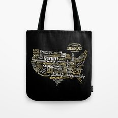 UNITE STATES OF BEARDLY - BLACK Tote Bag