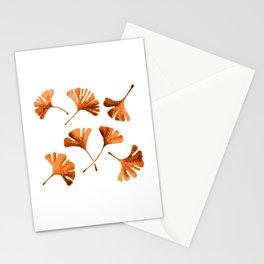 Orange Ginkgo Stationery Cards