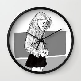 Heavy Metal Heart - Sky Ferreira illustration portrait Wall Clock