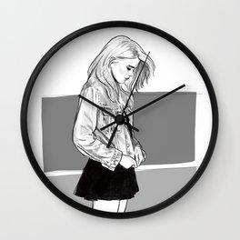 Heavy Metal Heart - Sky Ferreira illustration portrait Wall Clock