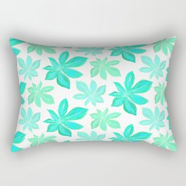 Bright Jungle Leaves Rectangular Pillow