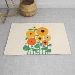 Sunflower and Bee Rug