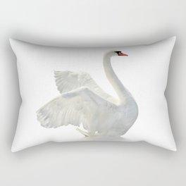 WHITE ON WHITE-BEAUTIFUL SWAN Rectangular Pillow