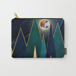 Metallic Peaks Carry-All Pouch