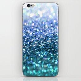 ocean glitter iPhone Skin