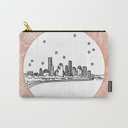 Houston, Texas City Skyline Illustration Drawing Carry-All Pouch
