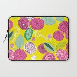 Belles Fleurs - roses bright pattern Laptop Sleeve