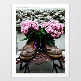 These Boots Are Made For Flowers Art Print