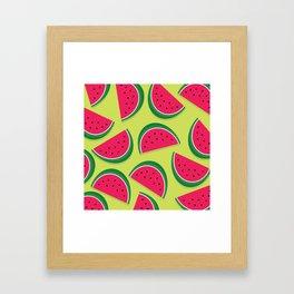 Juicy Watermelon Slices Framed Art Print